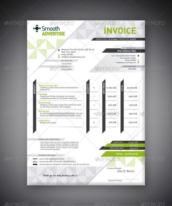 contoh desain invoice faktur 2015 corporate invoice