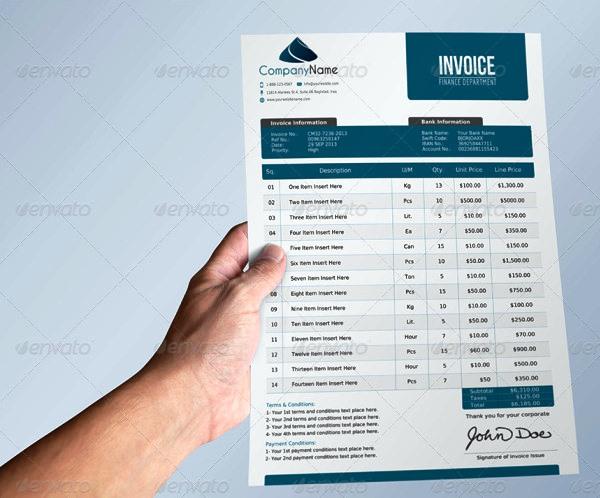 30 desain invoice terbaik 2015  u2013 ayu digiprint